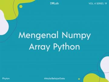 Dasar-Dasar NumPy Array pada Python