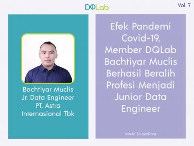 Kisah Inspiratif Bachtiyar Muclis Member DQLab yang Berhasil Beralih Profesi Menjadi Junior Data Engineer karena Dampak Pandemi Covid-19