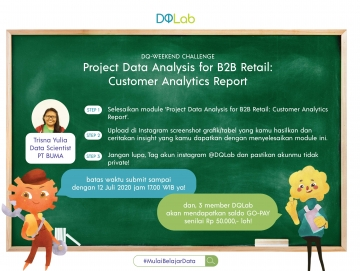 "Hadapi New Normal Tetap Produktif di Akhir Pekan dengan Mengakses DQ Weekend ""Data Analysis for B2B Retail: Customer Analytics Report"""