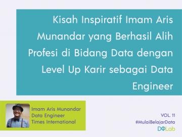 3 Bulan Belajar Data Science Otodidak, Imam Aris Munandar Berhasil Alih Profesi Sebagai Data Engineer.
