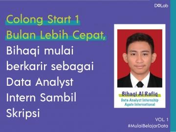 Colong Start 1 Bulan Lebih Cepat, Bihaqi mulai berkarir sebagai Data Analyst Intern Sambil Skripsi