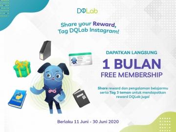 Share Reward pengalaman Belajar Data Science bersama DQLab dan Dapatkan GRATIS 1 Bulan Belajar bersama DQLab!