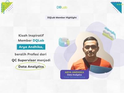 Sukses Beralih Profesi dari QC Supervisor menjadi Data Analytics, Intip Kisah Inspiratif Arya Andhika, Member DQLab