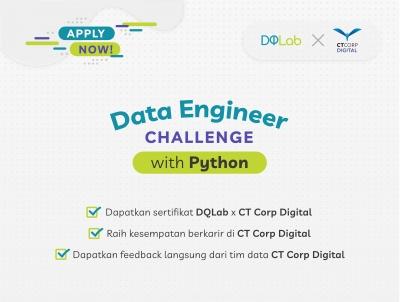 Belajar Ilmu Data Science di Rumah, dan Persiapkan Dirimu Berkarir Menjadi Data Engineer bersama CT Corp Digital