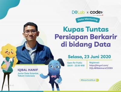 """Belajar Data Science dan Akses Data Mentoring """"Persiapan Berkarir di Bidang Data"""" Bersama DQLab x Codex"""