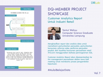 Belajar Data Science di DQLab: Bangun Customer Analytics Report untuk Industri Retail