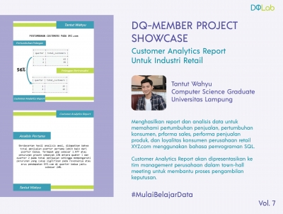 Belajar Data Science di DQLab: Bangun Customer Analytics Report untuk Industri Retail